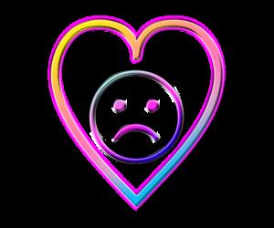 heart, sad, and colorful image