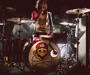 mike fuentes, pierce the veil, and drums image