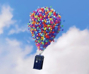 up, doctor who, and tardis image