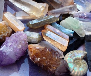 crystal, quartz, and stone image