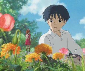 anime, studio ghibli, and flowers image
