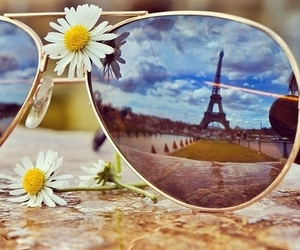 paris, flowers, and sunglasses image