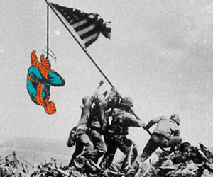 spiderman and war image