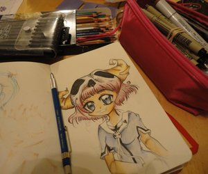 anime, art, and copic markers image