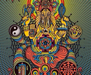 background, trippy, and 3rd eye tribe image