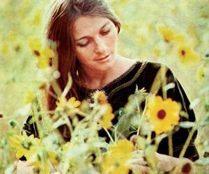 1960s, flowers, and folk music image