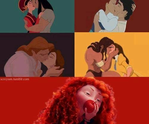disney, princess, and kiss image
