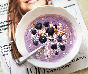 blueberry, breakfast, and fitness image
