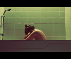 bath, naked, and bathroom image