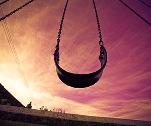 swing and sky image