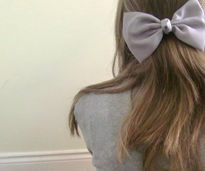 bow, girl, and hair image