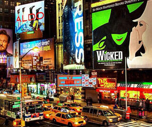new york, wicked, and broadway image