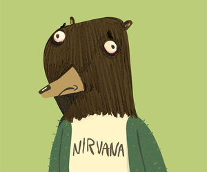 cobain, funny, and hipster image