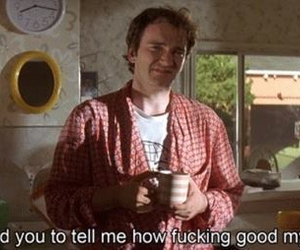 pulp fiction, coffee, and quentin tarantino image