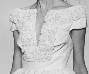 black and white, model, and dress image