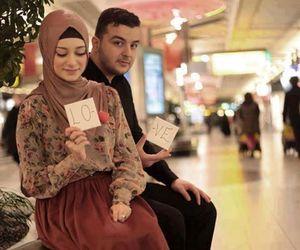 hijab, love, and muslim image