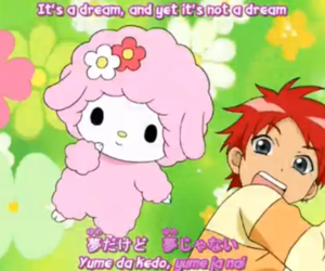 pink, cute, and onegai my melody image