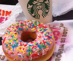coffee, donuts, and dunkindonuts image
