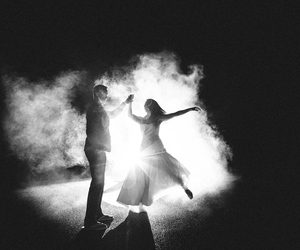 black and white, couple, and dance image