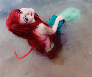 ariel, cosplay, and red hair image