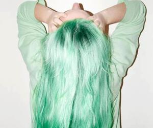 girl, green, and hair image