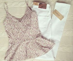 outfit, white, and style image