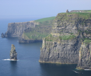 cliffs, ireland, and water image