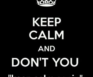 again, black, and keep calm image