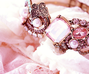 pink, jewelry, and bracelet image