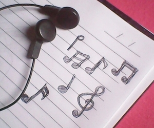 music and notebook image