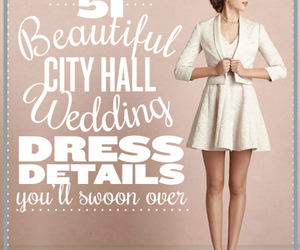 city hall, wedding dresses, and cocktail dresses image