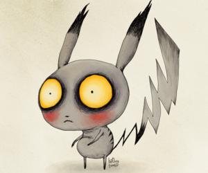 pikachu, pokemon, and tim burton image