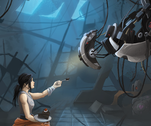 game, portal, and chell image