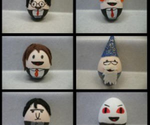 harry potter, easter, and eggs image