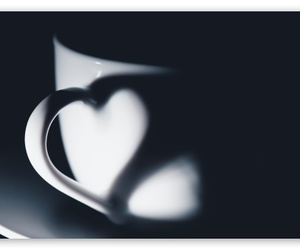 heart, cup, and coffee image