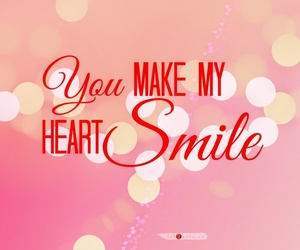 heart, smile, and love image