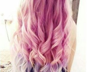 hair, pink, and curls image