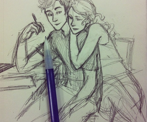 drawing, percy, and tumblr image