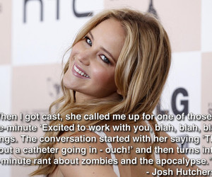 Jennifer Lawrence, funny, and josh hutcherson image