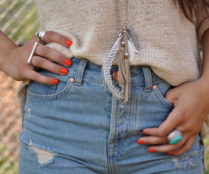 fashion, nails, and shorts image