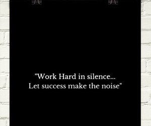 quote, silence, and success image