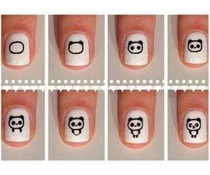 nails, panda, and diy image