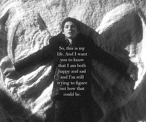 quotes, logan lerman, and sad image