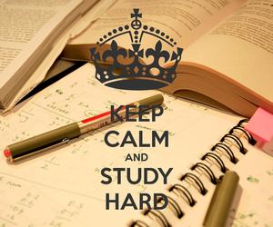 study, keep calm, and school image