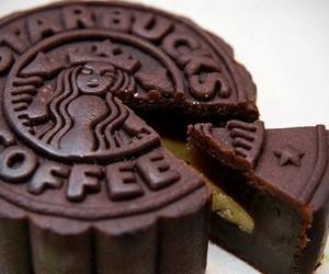 starbucks, cake, and chocolate image