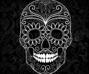 blak and white and skull image