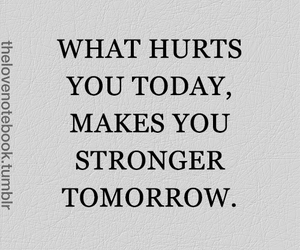 strong, quote, and hurt image