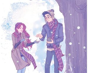 harry potter, lily evans, and james potter image