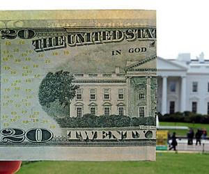 money, white house, and dollar image