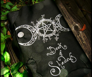 wicca, book of shadows, and paganism image